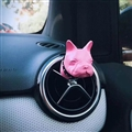 Cute Ornaments French Bulldog Car Decoration Air Freshener Solid Perfume Dog - Rose