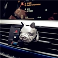 Cute Ornaments French Bulldog Car Decoration Air Freshener Solid Perfume Dog - Silver