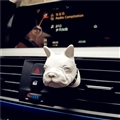 Cute Ornaments French Bulldog Car Decoration Air Freshener Solid Perfume Dog - White