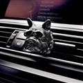 Cute Ornaments French Bulldog Car Decoration Air Freshener Solid Perfume Dog With Sunglasses - Black