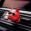 Cute Ornaments French Bulldog Car Decoration Air Freshener Solid Perfume Dog With Sunglasses - Red