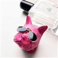 Cute Ornaments French Bulldog Car Decoration Air Freshener Solid Perfume Dog With Sunglasses - Rose