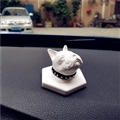 Cute Ornaments French Bulldog Car Decoration Air Freshener Solid Perfume White Dog - White
