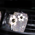 Daisy Crystal Bling Bling 1pcs Auto Air-Purify Clip Auto Air Out Perfume Clip - AB White