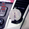Diamonds Bling Bling 1pcs Car Air-Purify Clip Auto Air Out Perfume Clip - AB White