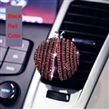 Diamonds Bling Bling 1pcs Car Air-Purify Clip Auto Air Out Perfume Clip - Black Red