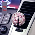 Diamonds Bling Bling 1pcs Car Air-Purify Clip Auto Air Out Perfume Clip - Pink