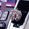 Diamonds Bling Bling 1pcs Car Air-Purify Clip Auto Air Out Perfume Clip - Purple