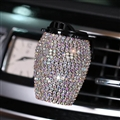 Good Crystal Bling Bling 1pcs Car Air-Purify Clip Auto Air Out Perfume Clip - AB White