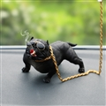 Resin Metal Cool Car Ornaments French Bulldog Car Decoration Smoking Dog With Sunglasses - Black