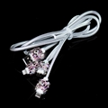 3 in 1 General Crystal Diamond USB Data Cable Mobile Phone Car Charge Line in Car - Purple