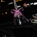 Hanging Pendant Bell Beautiful Bling Bling Diamonds Crystal Car Pendant Car Interior Decoration - Purple