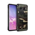 Camouflage Matte Silica Gel Shell TPU Shield Back Hard Cases Skin Covers for Samsung Galaxy S10 - Green
