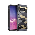 Camouflage Matte Silica Gel Shell TPU Shield Back Hard Cases Skin Covers for Samsung Galaxy S10 Lite S10E - Blue