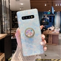 Femal Rhinestone Holder Soft Case Protective Shell Cover for Samsung Galaxy S10 Plus S10+ - Colorful