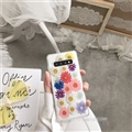 Flower Matte Silica Gel Shell TPU Shield Back Soft Cases Skin Covers for Samsung Galaxy S10 Lite S10E - Colorful
