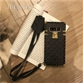Lanyard Lattices Silica Gel Shell TPU Shield Back Soft Cases Skin Covers for Samsung Galaxy Note9 - Black
