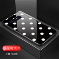 Lovers Polka Dots Mirror Surface Silicone Glass Covers Protective Back Cases For Samsung Galaxy S10 Plus S10+ - Black