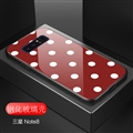 Lovers Polka Dots Mirror Surface Silicone Glass Covers Protective Back Cases For Samsung Galaxy S10 - Red