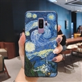 Oil Painting Silica Gel Shell TPU Shield Back Soft Cases Skin Covers for Samsung Galaxy S9 Plus S9+ - Sky