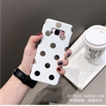 Polka Dots Silica Gel Shell TPU Shield Back Soft Cases Skin Covers for Samsung Galaxy S9 Plus S9+ - White