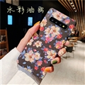 Ultrathin Matte Cases Flower Girl Hard Back Covers for Samsung Galaxy S10 - Blue