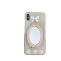 Bow Mirror Pearl Covers Rhinestone Diamond Cases For iPhone 6 Plus - 01