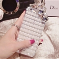 Bow Pearl Covers Rhinestone Diamond Cases For iPhone 6 Plus - Crystal