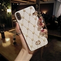 Chain Pearl Covers Rhinestone Diamond Cases For iPhone 6 Plus - 01