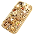 Fashion Bling Crystal Cover Rhinestone Diamond Case For iPhone 6 Plus - Gold 02