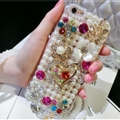 Fashion Bling Pearl Covers Rhinestone Diamond Cases For iPhone 6 Plus - Heart