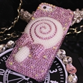 Fashion Lollipop Bling Pearl Covers Rhinestone Diamond Cases For iPhone 6 Plus - Pink