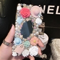 Flower Bling Pearl Covers Rhinestone Diamond Cases For iPhone 6 Plus - 02
