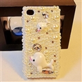 Dolphin Pearl Covers Rhinestone Diamond Cases For iPhone 6S - 01