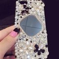Flower Bling Pearl Covers Rhinestone Diamond Cases For iPhone 6S - 03