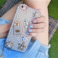 Women Bling Pearl Covers Rhinestone Diamond Cases For iPhone 6S - Perfume Bottle
